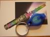 LED Schlüsselanhänger, Gehäuse blau, Licht blau