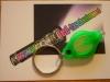 LED Schlüsselanhänger, Gehäuse grün, Licht grün