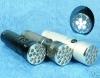 """6/16 LED """"Polizei""""-Taschenlampe, Gehäuse grau, Licht weiss"""