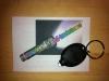 LED Schlüsselanhänger XTAR, Gehäuse schwarz, Licht weiss