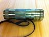 """12 LED """"Polizei""""-Taschenlampe, Gehäuse grau, Licht UV, mit Aufdruck """"Transitions"""""""