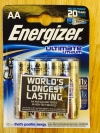 4er-Pack Energizer Ultimate Lithium AA-Batterien